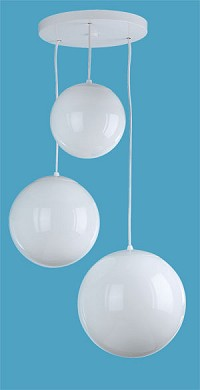 premium selection fdf69 c0fa4 3 White Globe Pendant on Round Canopy | www.loveitlighting.com